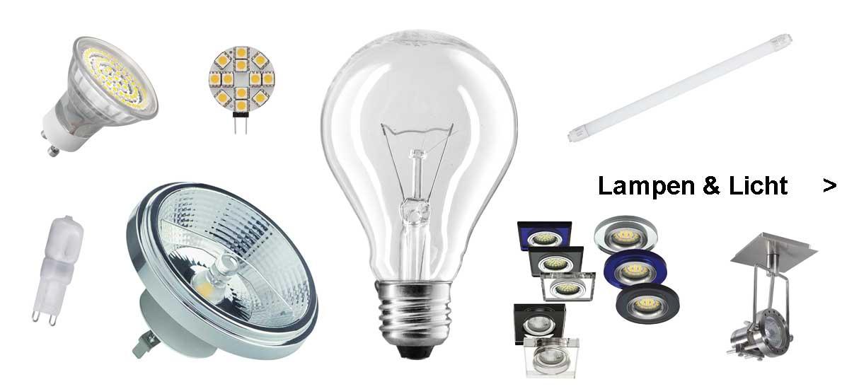 Lampen & Licht, traditionelle Beleuchtung und LED Leuchtmittel