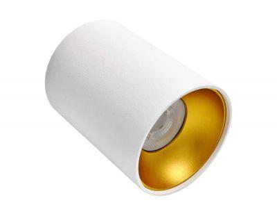 Deckenspotleuchte Riti Deckenleuchte Aufbauleuchte weiss gold - 1