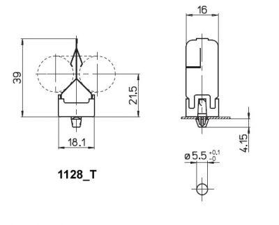 Lampenhalter aus verzinktem Stahlblech für Lampen mit Sockel 2G11 - 1