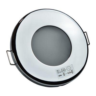 Halogen/LED Feuchtraum Einbaurahmen MR-16, Gx5,3 - Chrom - 1