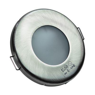Halogen/LED Feuchtraum Einbaurahmen MR-16, Gx5,3 - satinnickel - 1