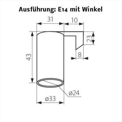 Keramik-Fassung E14 mit Metallbefestigungswinkel - 1