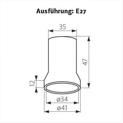 Keramik-Fassung E27, Renovierungsfassung - 1