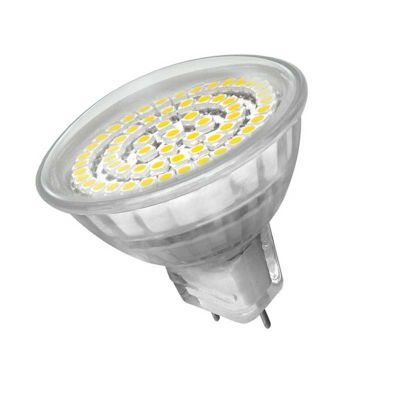3,3 Watt LED Lampe 60 SMD LEDs, MR16, GX5,3 weiss - 0