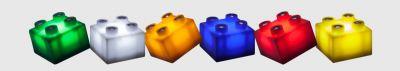bunte Bausteine, Kunststoff, Bunt, Erweiterungset für Light Stax, Zusatzsteine MIX - 1