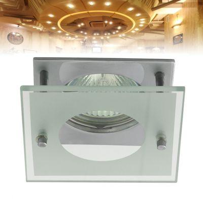 quadratischer Deckeneinbaustrahler für LED / Halogenlampen Sockel GX5.3 - 1