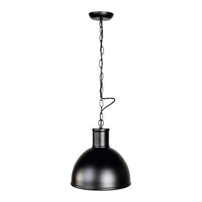 Pendelleuchte, Deckenleuchte Ø300mm, Leuchtenschirm aus Metall schwarz/goldkupfer - 1