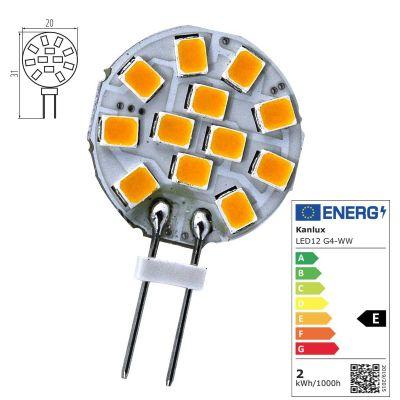 LED-Lampe G4 6SMD 1W 12V 2700-3200K SMD5050 Leuchtmittel - 1