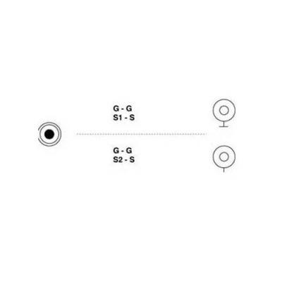 3.5MM STEREO KLINKENSTECKER - 2 CINCH KUPPLUNG - 1