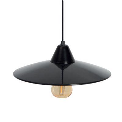 Deckenleuchte im Retro Design - schwarz, Vintage Leuchte - 1