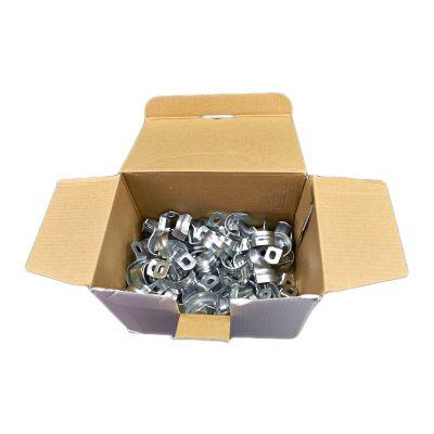 100x Stahlschellen M25 einlappig, Rohrschellen, Rohrbefestigung, Klemmen, - 1