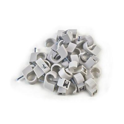 100x Nagelschelle 10-14/40mm grau, Nagelschellen, Kabelschelle - 1