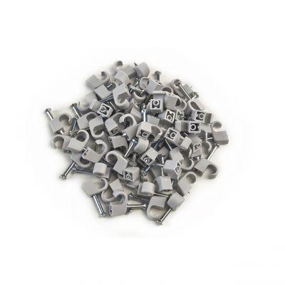 100x Nagelschelle 4-7/20mm grau, Nagelschellen, Kabelschelle - 1