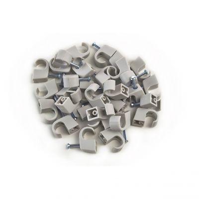 100x Nagelschelle 7-11/25mm grau, Nagelschellen, Kabelschelle - 1