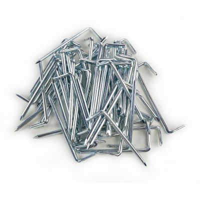 250 Stück Hakennagel, Hakennägel Haken Nagel 3x70 verzinkt / blank - 1