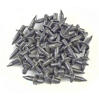 200x Einschlagdübel, Stahlnagel, Schlagdübel, Fixpin, breiter Kragen 4x14 mm - 1