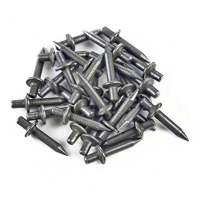 200x Einschlagdübel, Stahlnagel, Schlagdübel, Fixpin, breiter Kragen 4x22 mm - 1