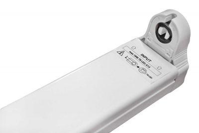 Halterung Fassung für 1x 120cm LED Röhren, LED Fassung, Leuchte für LED T8, G13 - 1