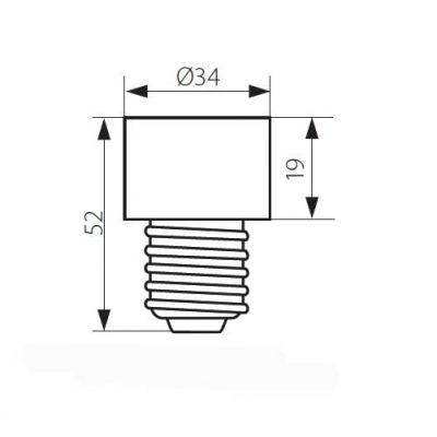Adapter E27 auf G10/GZ10 geeignet für LED und Halogenlampen - 1