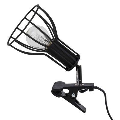 Moderne Klemmleuchte Klemmlampe Schreibtischleuchte schwarz E14, max. 40W - 1