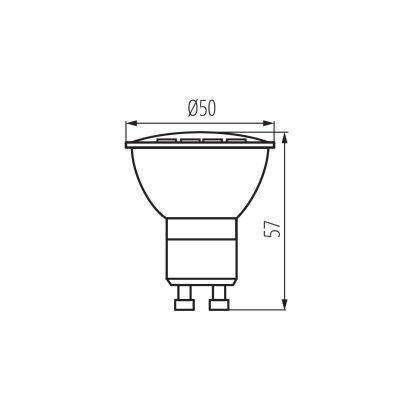 5W LED Spot, GU10 Strahler warmweiss, LED Lampe, LED-Licht , Spot - 1