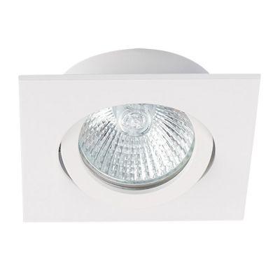 Deckeneinbaustrahler quadratisch weiss, für LED / Halogenlampen Sockel GX5.3 - 1