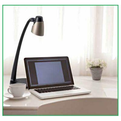 LED Schreibtischleuchte, Schreibtischlampe silber/weiß - 1