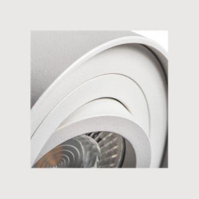 Deckeneinbaustrahler weiß rund für LED / Halogen Deckeneinbauring - 1