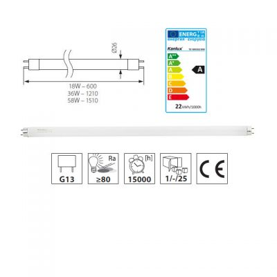 18 Watt Leuchtstofflampe 830 3000K warmweiss ww Leuchtstoffröhre 18W/830 - 1