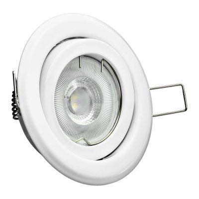 Halogen/LED Einbaurahmen MR-16, GU10 Gx5,3 - weiss Einbauspot, Einbaustrahler - 1