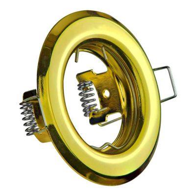 LED Halogen Einbaurahmen MR16, GU10 Gx5,3 gold Einbauspot, Einbaustrahler - 1