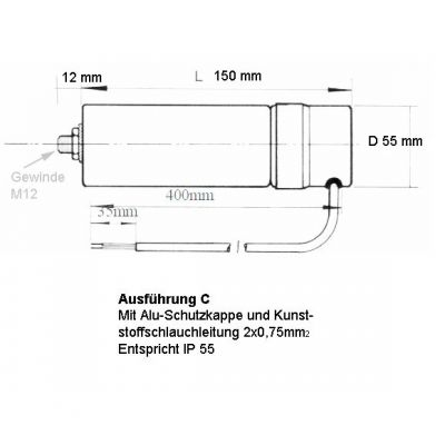 35 uF Motorkondensator Betriebskondensator 35 mF Kondensator Kabelanschluss Alubecher - 1