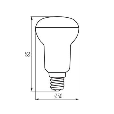 6 Watt LED Speziallampe, universalweiss Reflektorlampe LED-Birne, SIGO R50, E14 - 1
