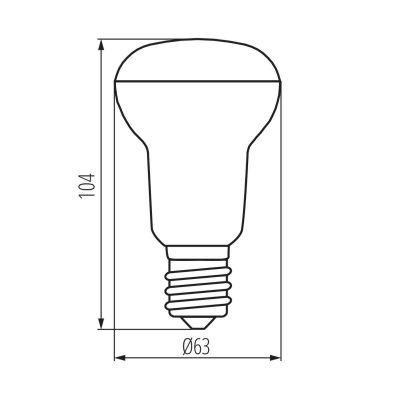 8 Watt LED Speziallampe, warmweiss Reflektorlampe LED-Birne, SIGO R63, E27 - 1