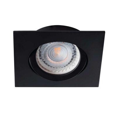 Deckeneinbaustrahler quadratisch schwarz, für LED / Halogenlampen Sockel GX5.3 - 1