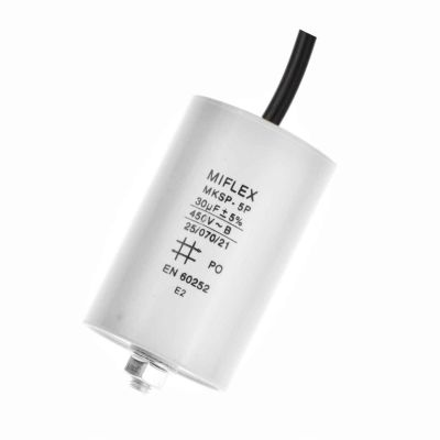 30 uF Betriebskondensator Motorkondensator Kondensator 30,0µF, 450V mit Kabel - 1