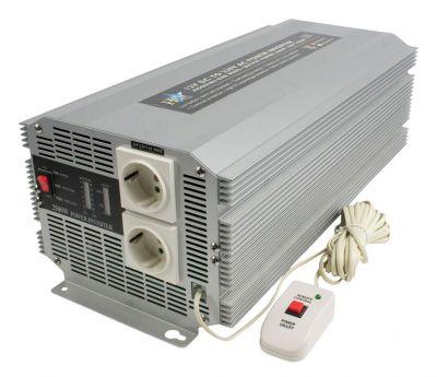 WECHSELRICHTER 2500W 12V -> 230V  Spannungswandler - 1
