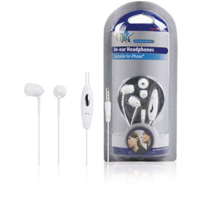 Iphone® IN-EAR KOPFHÖRER + Mikrofon Weiss - 1