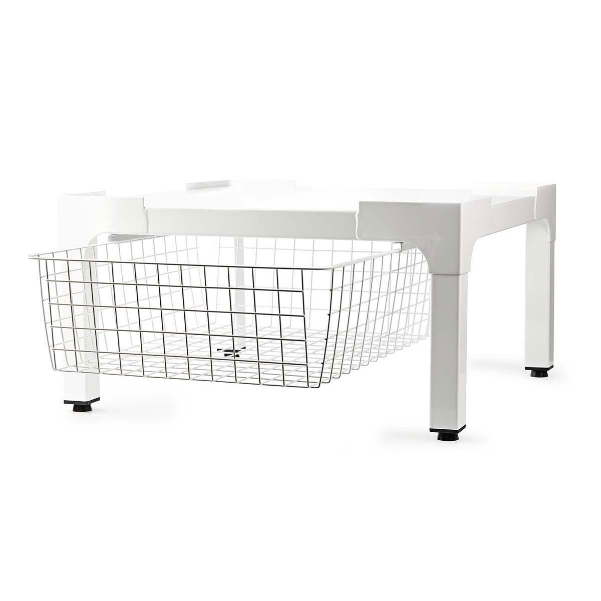 schweres podest f r waschmaschine waschmaschinensockel mit ausziehbarem korb ebay. Black Bedroom Furniture Sets. Home Design Ideas