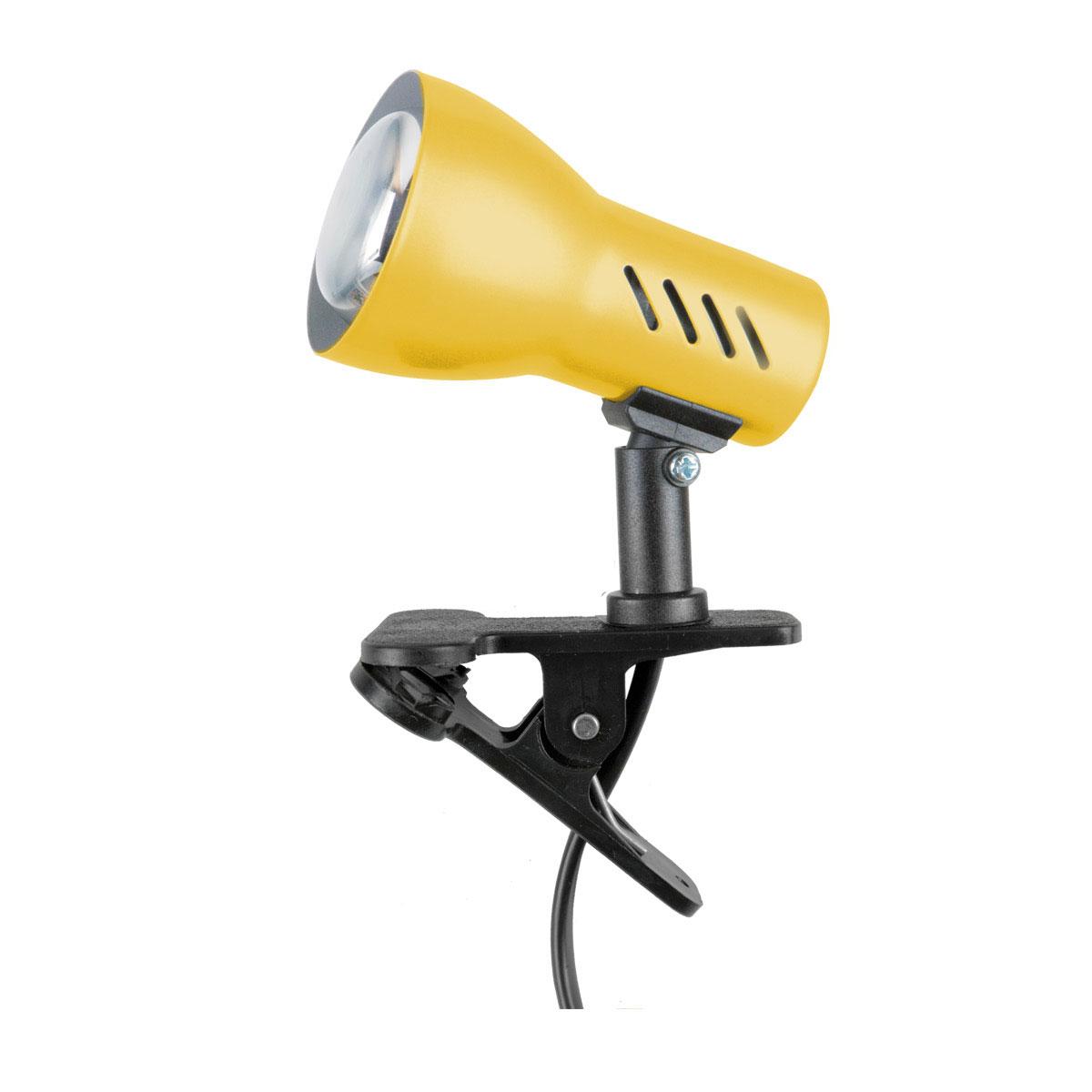 spot light lampe zum klemmen klemmleuchte clampspot klemmlampe gelb e27 60w ebay. Black Bedroom Furniture Sets. Home Design Ideas