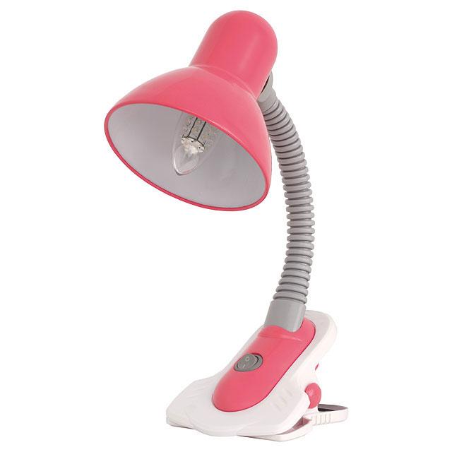 schreibtischlampe klemmlampe klemmleuchte pink rosa e27 60w neu zum klemmen ebay. Black Bedroom Furniture Sets. Home Design Ideas