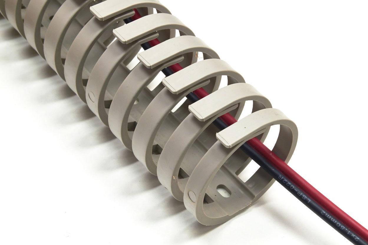 flexibler kabelkanal kabelf hrung verdrahtungskanal 30 mm ebay. Black Bedroom Furniture Sets. Home Design Ideas