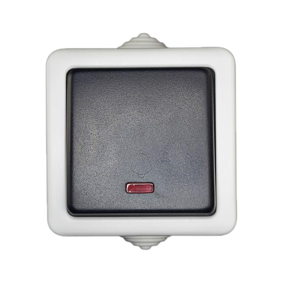 feuchtraum klingeltaster klingelschalter led kontroll lampe taster aufputz ebay. Black Bedroom Furniture Sets. Home Design Ideas