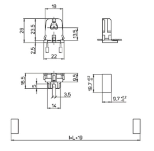 2 st ck transparente fassung f r t5 leuchtstoffr hre sockel g5 durchsteckfassung ebay. Black Bedroom Furniture Sets. Home Design Ideas