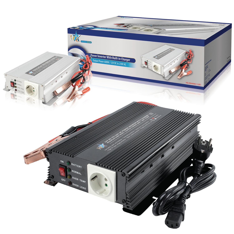 LKW Spannungswandler 600W Wechselrichter 24V -/> 230V Stromwandler Kfz