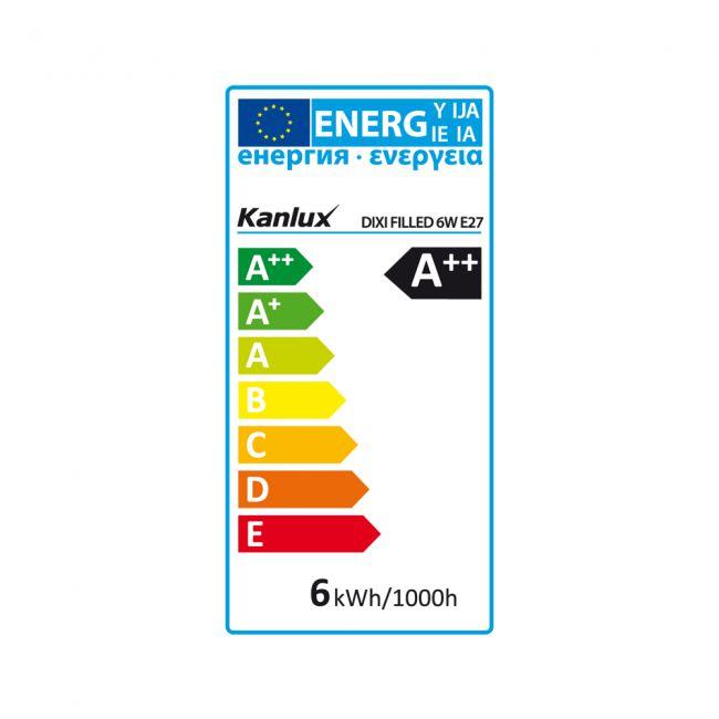 6 Watt LED Lampe, Filament, E27 Sockel, warmweiss, LED Birne - 3