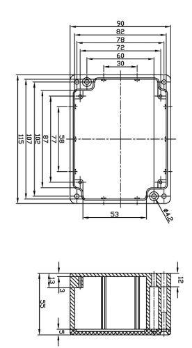 box alu aluminiumgeh use platinen sicherheit elektronik led ma e mm 115x90x55 ebay. Black Bedroom Furniture Sets. Home Design Ideas