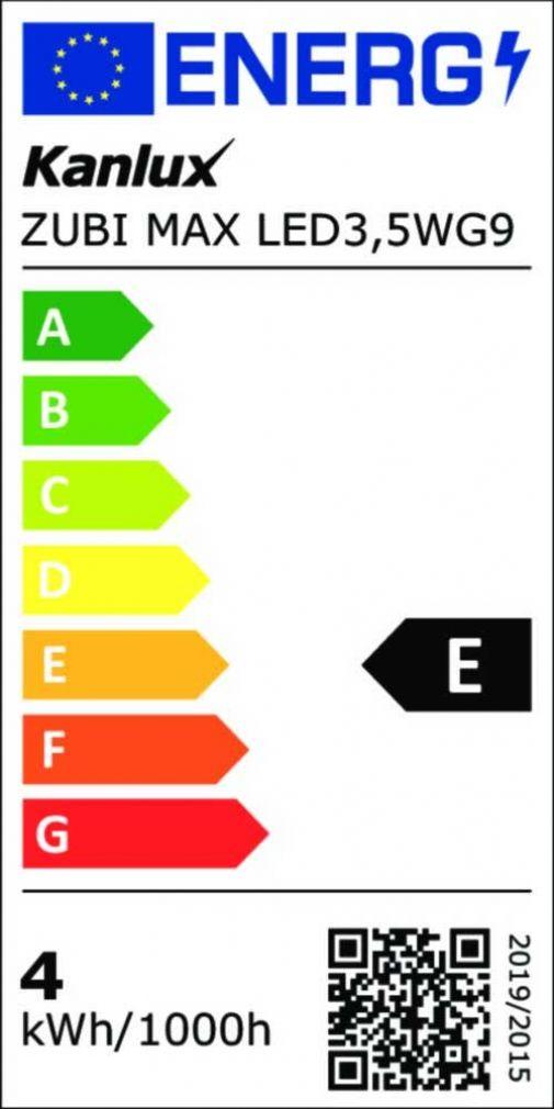 3,5 Watt LED Lampe, ZUBI MAX LED 3,5W Sockel G9 warmweiss, 400lm - 4