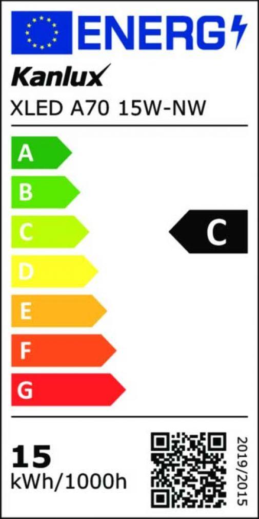 15 Watt LED Filament Lampe E27 neutralweiss 4000 Kelvin XLED A70 - 11