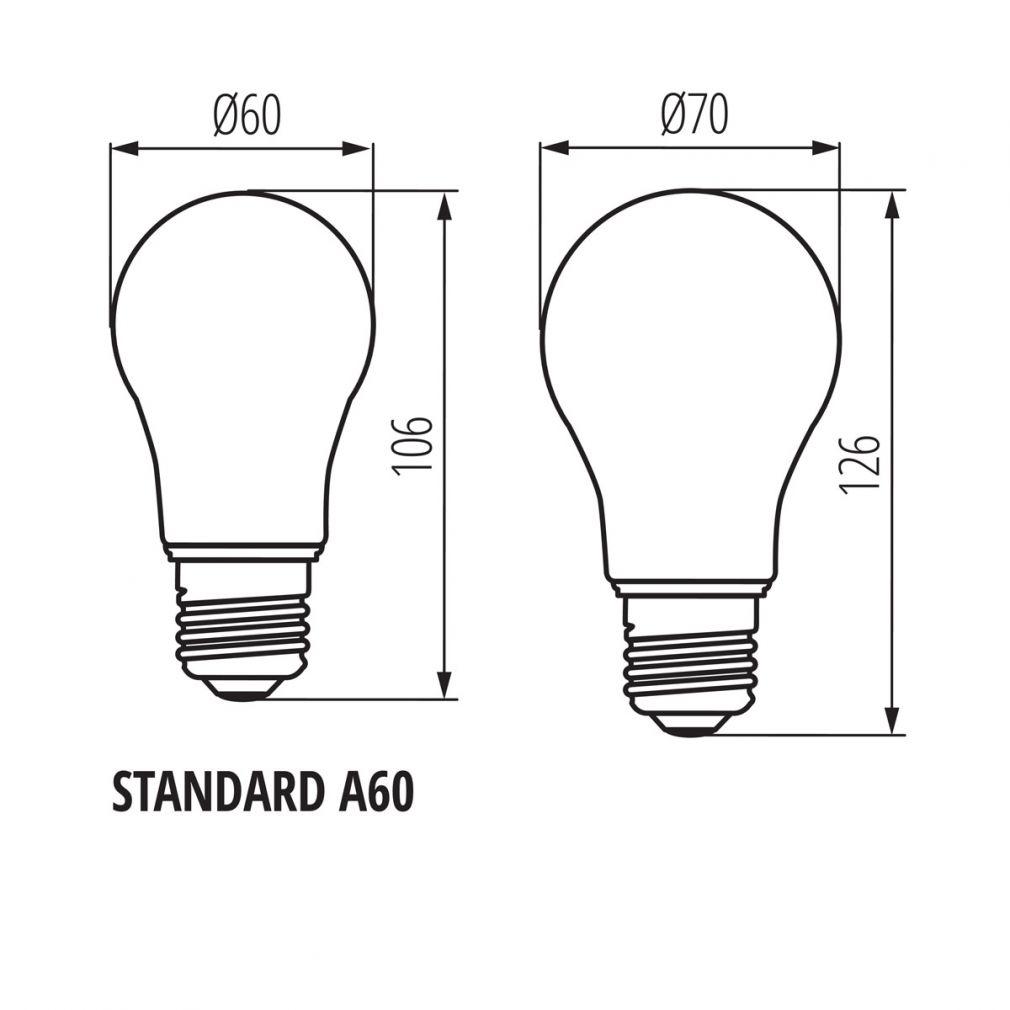 15 Watt LED Filament Lampe E27 neutralweiss 4000 Kelvin XLED A70 - 2